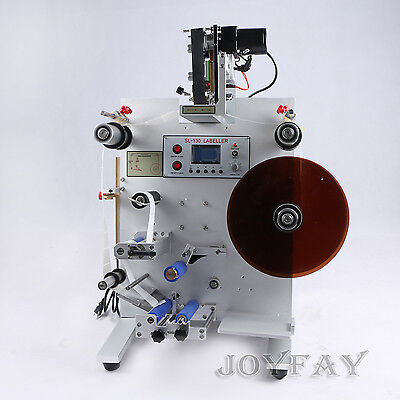 SL-130  Round Bottle Labeling Machine Labeler With Date Printer Coding Machine