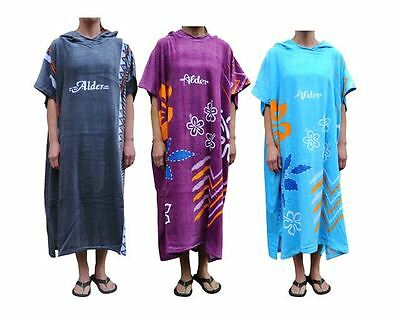 Alder Adults Hooded Beach Changing Robe Beach Poncho Towel Swimming Surf