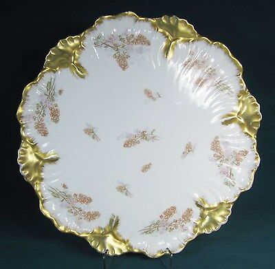 Large Limoges Gold And White Platter - 15""