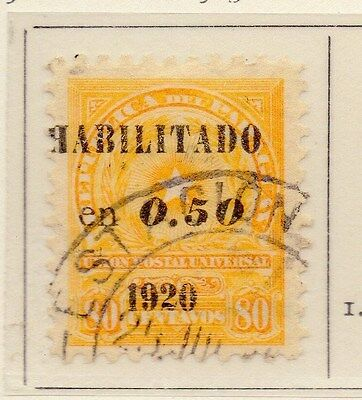 Paraguay 1920 Early Issue Fine Used 0.05. Optd Surcharged 169846