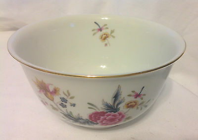 Avon American Heirloom Collection Porcelain Bowl Independence Day Floral 1981