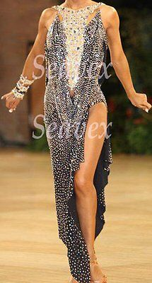 U2928 Women Ballroom Latin rumba swing salsa dance competition dress Custom made