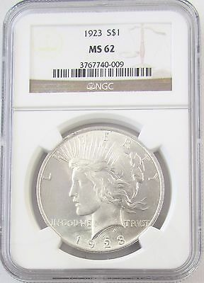 1923 Peace Silver Dollar NGC MS 62