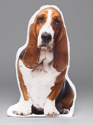 LiLiPi-Basset Hound Accent Shaped Pillow Made in Chicago