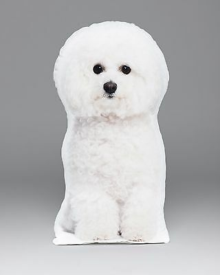 LiLiPi Bichon Frise Accent Shaped Pillow Made in Chicago