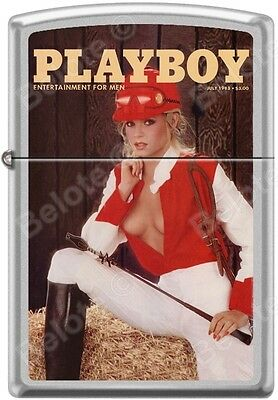 Zippo Playboy July 1983 Cover Satin Chrome Windproof Lighter NEW RARE