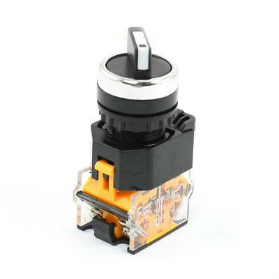 22mm Dia Panel Mounted 2 Selector Position DPST Rotary Switch