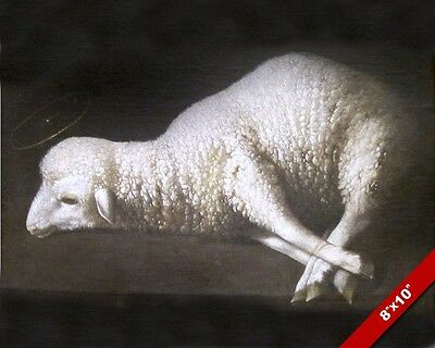 The Lamb Of God Symbolic Painting Jesus Christ Sacrifice Art Real Canvas Print
