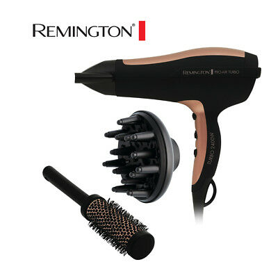 Remington Pro-Air Turbo Hair Dryer - ceramic Plus & Ionic Hairdryer 2400W
