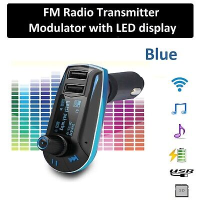 New Wireless FM Transmitter Car Dual USB Charger MP3 Player Radio Handsfree Call