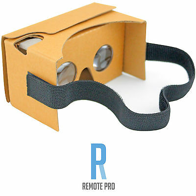 Google Cardboard V2.0 VR Headset Kit NFC, Lens & Headstrap Virtual Reality Brown
