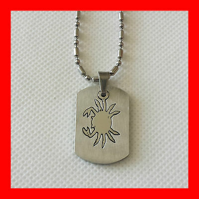 1x NEW Cancer Crab Zodiac Horoscope Men Stainless Steel Pendant + FREE Chain