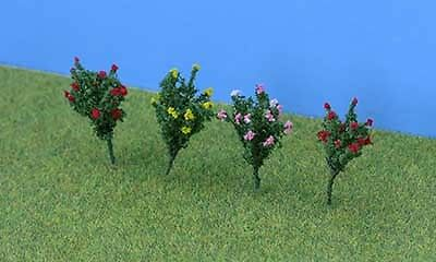 JTT Scenery Products O Gauge Pack of 8 Hibiscus (2.5cm) # 95608