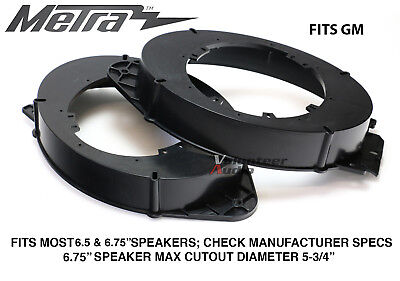 """Metra 82-3005 14-15' 6"""" - 6.75"""" Front Speaker Adapters For Select GM Vehicles"""