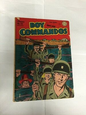 Boy Commandos 10 Very Good / Fine Vg/F 5.0 See Pictures