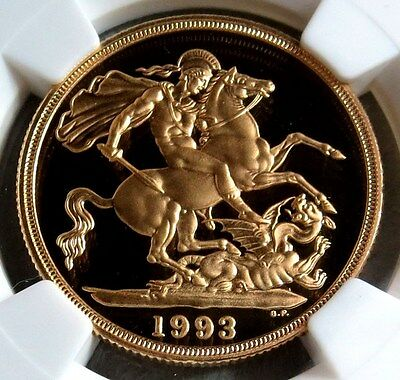 1993 Gold Great Britain 2 Pound Ngc Proof 69 Ultra Cameo