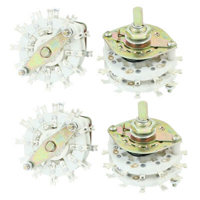 4Pcs 4P5T 4 Pole 5 Way Double Decks Band Channael Rotary Switches