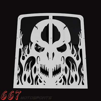Skull Radiator Grilles Accessories Cover Cap For Yamaha Banshee Grill 1987-2012