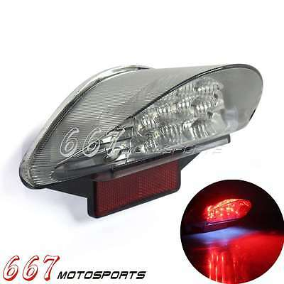 LED E-Marked Taillight Reflector W/ License Plate Light For BMW F650 Dakar GS ST