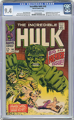 1968 Incredible Hulk 102 CGC 9.4