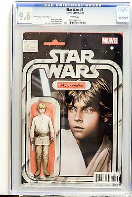 STAR WARS #1 CGC 9.6 Christopher Action Figure Variant Cover Marvel