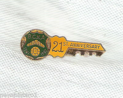 #D203.  BANKSTOWN  NETBALL ASSOCIATION   LAPEL BADGE, 21st, 1961-1982