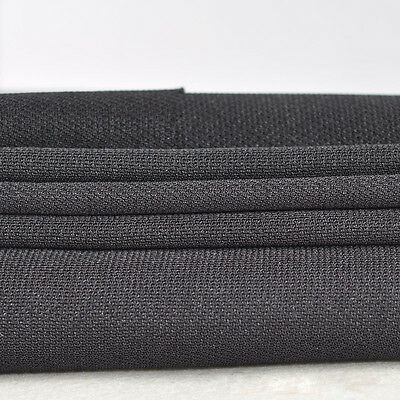 Speaker Grill Cloth Stereo Gille Fabric Speaker Mesh Cloth Thick Black 1.75mx0.5