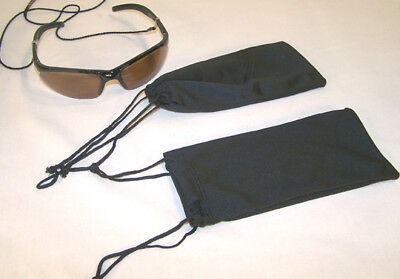 12 MICRO FIBER DRAWSTRING SUNGLASS BAGS pouch cases NEW eyewear protection