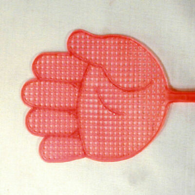 2 HAND SHAPED FLY SWATTER bugs flies pest control home NOVELTY bug garden new