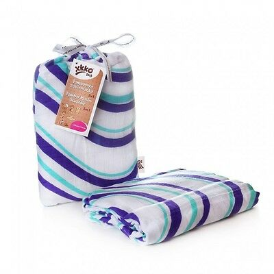 XKKO®BMB Wickeltuch - Waves ocean (Swaddles 120x120)