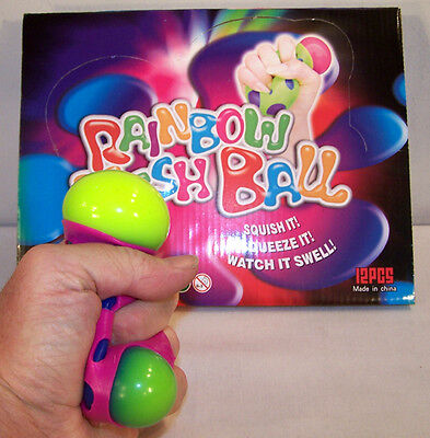 6 CHANGING COLOR STRESS SQUEEZE BALL play toy balls novelty squeezing toys new