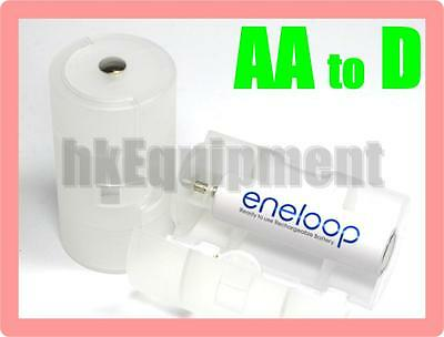 Battery Adaptor Converter AA to D R20 rechargeable x4