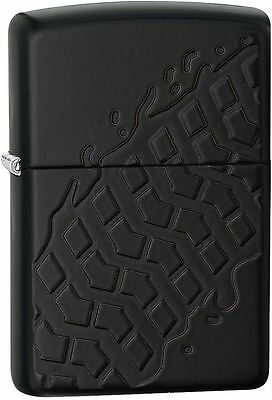 Zippo Armor Windproof Black Matte Tire Tread Lighter, 28966, New In Box