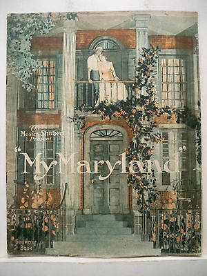 MY MARYLAND Souvenir Program SIGMUND ROMBERG / J.J. SHUBERT Tour 1920s