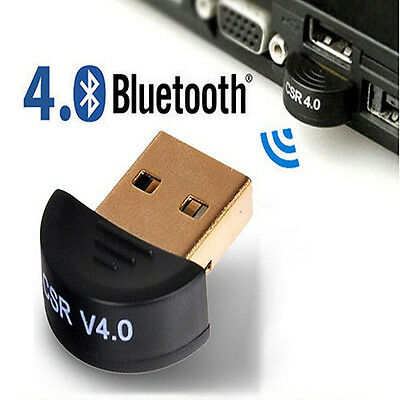 Mini Bluetooth 4.0 USB 2.0 CSR4.0 Dongle Adapter For Win 8 7 XP Laptop PC Catchy