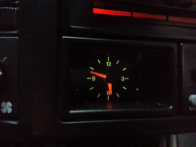 Genuine Volvo 480S/es/gt440/460Quartz Analogue Dash Board Time Clock Back Lit12V