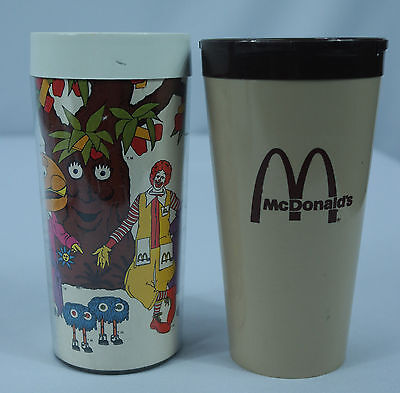 Lot of 2 VTG 80's McDonald's Cups/Tumblers by Thermo-Serv & Flambeau