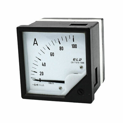 100A Analogue AC Ammeter Current Panel Meter 6L2 1.5 Class Accuracy