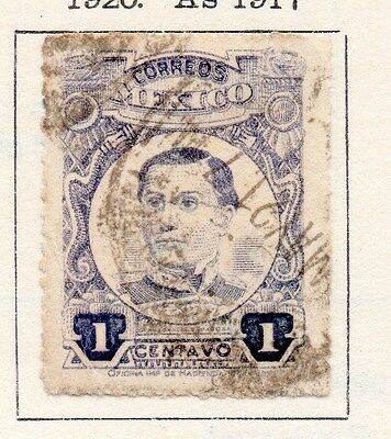 Mexico 1920 Early Issue Fine Used 1c. 170533