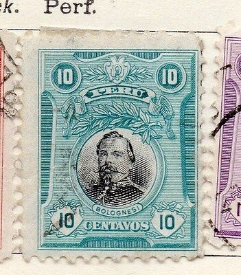 Peru 1918 Early Issue Fine Used 10c. 170596