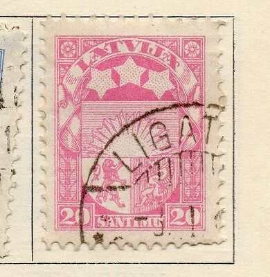 Latvia 1923-24 Early Issue Fine Used 20s. 170643