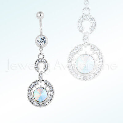Jewelry & Watches Honey Pretty 925 Sterling Silver Pear Drop Clear Cz 316l Surgical Steel Belly Bar Ring Other Wedding Jewelry