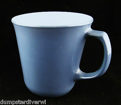Steel Blue D handle Pyrex Corning Corelle Coffee mugs mug cups vintage 60s 70s