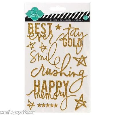 Heidi Swapp Glitter Stickers Project Life Gold Best Ever