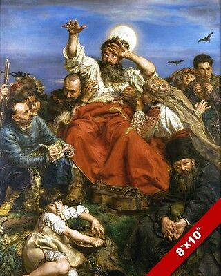 Wernyhora Cossack Prophet Bard Battle Of Painting War Art Real Canvas Print