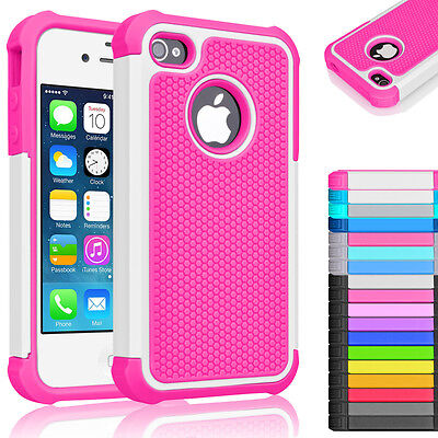 Rugged Hybrid Rubber Hard Shockproof Case Cover Skin for Apple iPhone 5 SE 5s