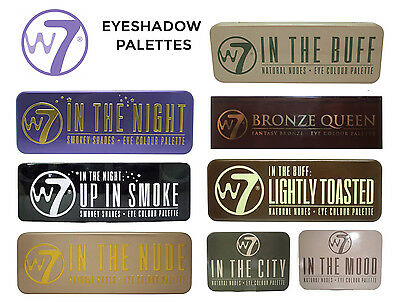 W7 Eyeshadow Eye Shadow Palette - In the Buff, Nude, Toasted, Night, Mood & More