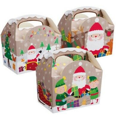 100 ~ Christmas Party Food Boxes ~ Childrens Xmas Meal Bag Plate Box