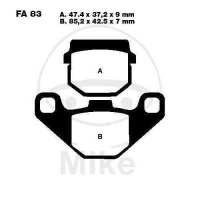 EBC brake pads SFA083 REAR Adly 50 RS Supersonic 06-08