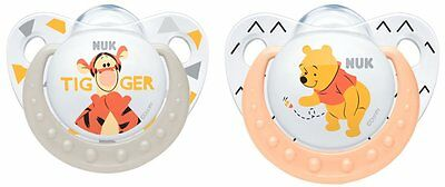 NUK Winnie the Pooh Soother Silicone 2pk Size1 / Size2 Available